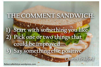The Comment Sandwich by Charity Bradford
