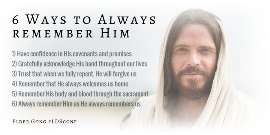 16Apr Gong 6 ways to remember Christ